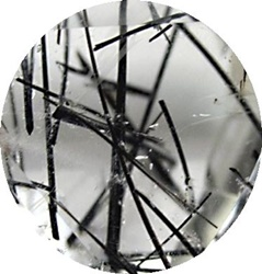 Cuart cu Turmalina Neagra - Black Tourmalinated Quartz - Sagenitic Quartz