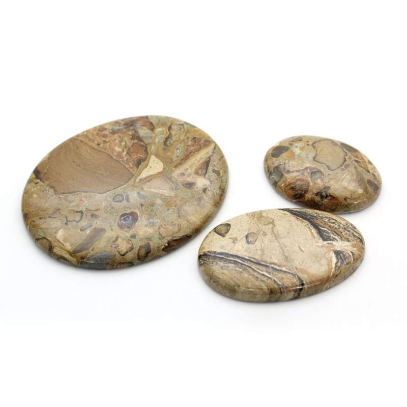 Cabochon Coffee Jasp 39-68 x 27-55 x 6-7 mm - Unicat
