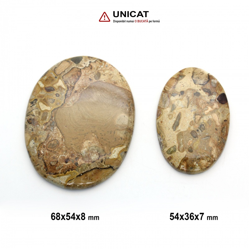 Cabochon Coffee Jasp 54-68 x 36-54 x 7-8 mm - Unicat
