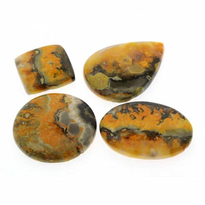 Cabochon Jasp Bumble Bee 25-43 x 24-32 x 6-7 mm