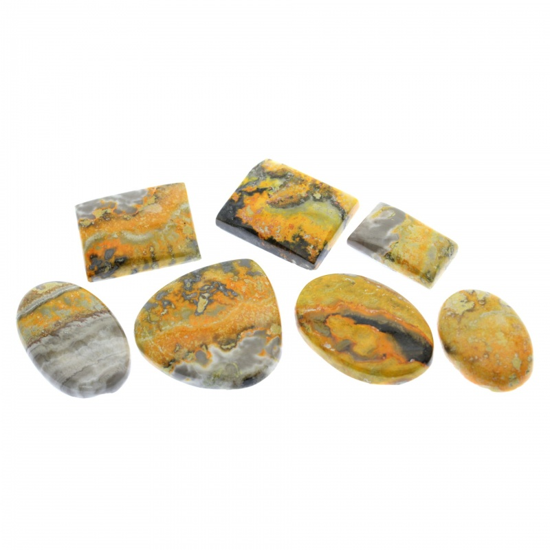 Cabochon Jasp Bumble Bee 24-37 x 14-36 x 6-7 mm