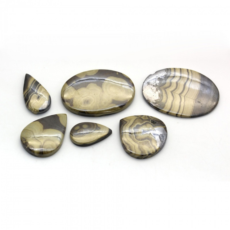 Cabochon Sphalerit 21-39 x 13-27 x 2-4 mm - Unicat