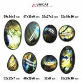 Cabochon Labradorit 32-59 x 10-34 x 5-10 mm - Unicat