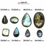 Cabochon Labradorit 23-52 x 16-34 x 6-9 mm - Unicat