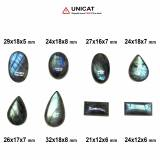 Cabochon Labradorit 21-32 x 12-18 x 5-8 mm - Unicat