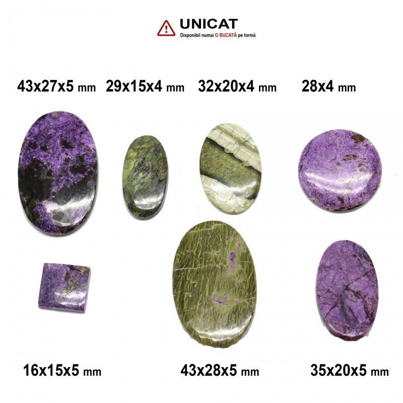 Cabochon Atlantisit 16-43 x 15-28 x 4-5 mm - Unicat