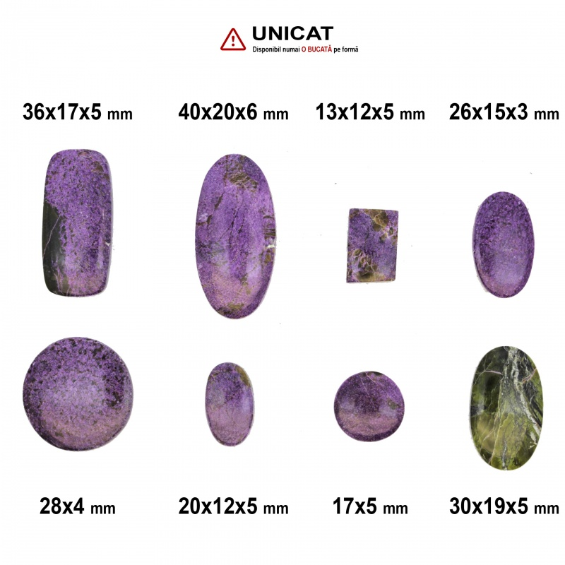 Cabochon Atlantisit 13-40 x 12-20 x 3-6 mm - Unicat