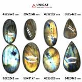 Cabochon Labradorit 36-54 x 23-32 x 6-8 mm - Unicat