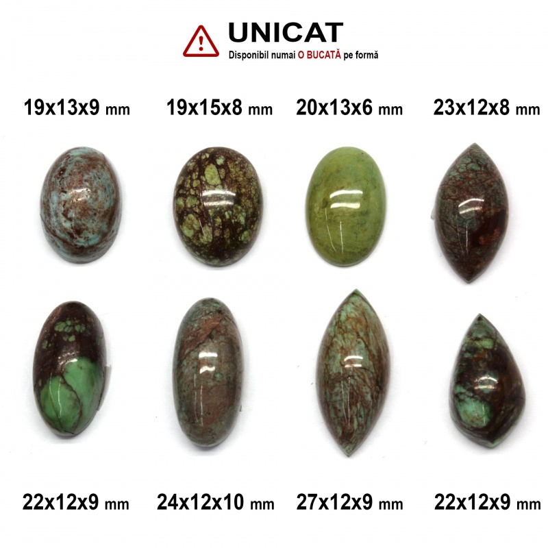 Cabochon Gaspeit Oval - 19-27 x 12-13 x 6-10 mm