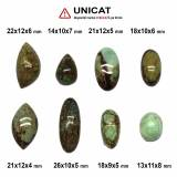 Cabochon Gaspeit Oval - 13-26 x 9-12 x 4-8 mm