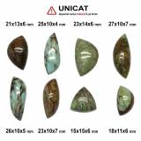 Cabochon Gaspeit Neregulat - 15-27 x 10-15 x 4-7 mm