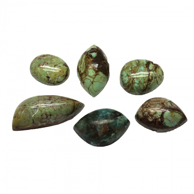Cabochon Gaspeit Neregulat - 13-23 x 10-12 x 4-8 mm