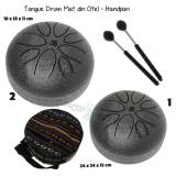 Tongue Drum din Otel - Handpan - 18-24x18-24x11-15 cm - 1 Buc