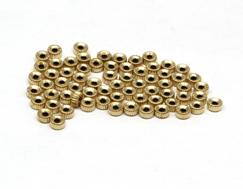 Margea Gold Filled Corrugated Rotunda 3 x 1,5 mm - 1 Buc