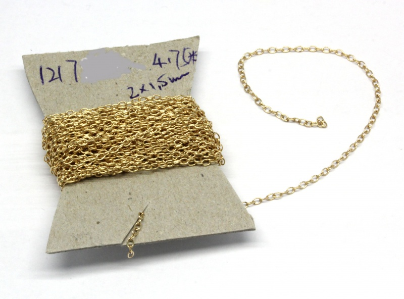 Cauti Lant Gold Filled 2 x 1,5 mm  - 31-100 CM
