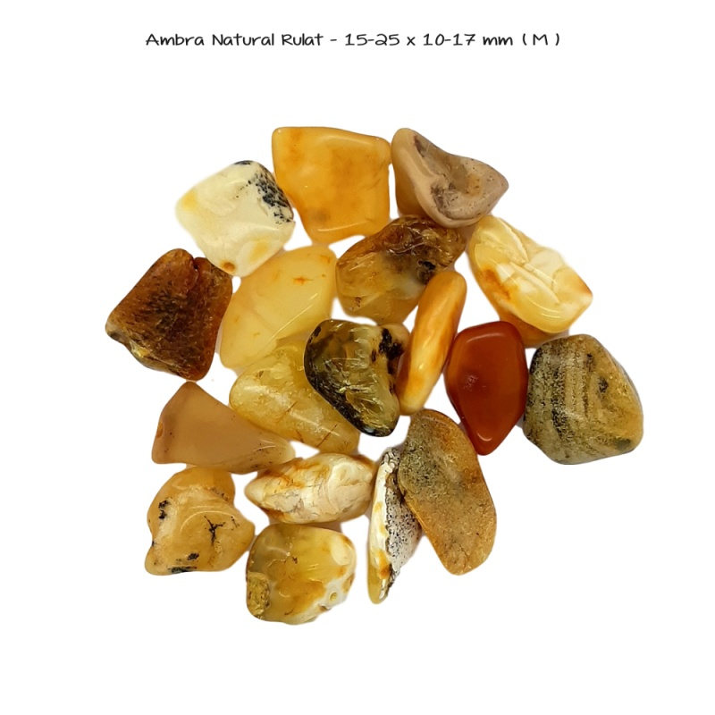 Ambra Natural Rulat - 15-25 x 10-17 mm ( M )