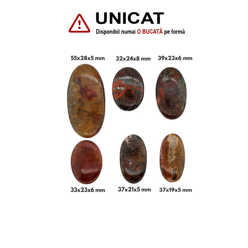 Cabochon Agata Indonesia Oval - 32-55x19-28x5-8 mm