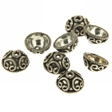 Conectori  rotund cu relief celtic 6 x 12 mm