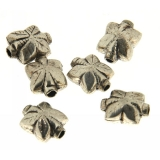 Margele din metal placat floare 12x11 mm - 5 Buc