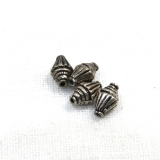 Margele din metal placat butoias 12x7 mm - 13 Buc