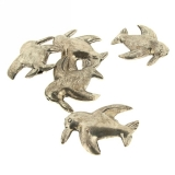 Margele din metal placat animal 30x30 mm - 2 Buc