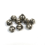 Margele din metal placat rotund neregulat 8x7 mm - 9 Buc