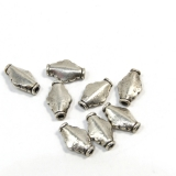 Margele din metal placat butoias 12x8 mm - 8 Buc