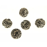 Margele din metal placat rotund neregulat 12x12 mm -3 Buc