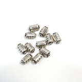 Margele din metal placat butoias 12x 7 mm - 11 Buc