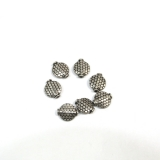 Margele din metal placat oval 16 x 14 mm - 6 Buc