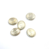 Margele din metal placat oval 20x16 mm - 5 Buc