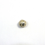 Margele din metal placat rotund neregulat 22x22 mm - 2 Buc
