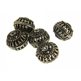 Margele din metal placat rotund neregulat 13x16 mm - 3 Buc