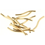 Margele gold filled tub twisted 1.5 x 20 mm