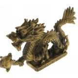 Dragon cu Perla Succesului in Gheare - Statueta din Bronz 125 mm