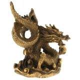 Dragon cu Perla Succesului in Gheare - Figurina din Bronz 80 mm