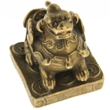 Pi Yao pe Monede - Figurina din Bronz 40 mm