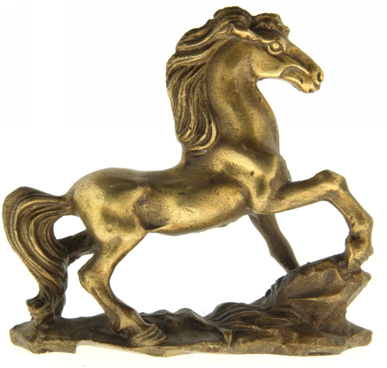 Cal in Galop - Figurina din Bronz 85 mm