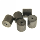 Margele din metal placat tub 14 x 14 mm - 2 Buc