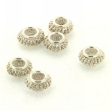 Margele din metal placat disc filigran 6 x 11 mm