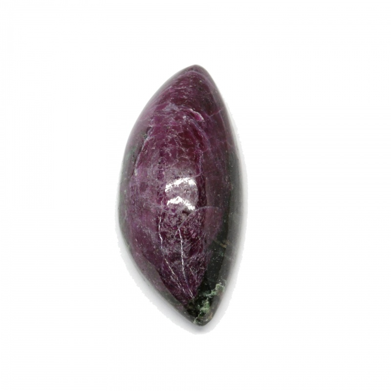 Cabochon Rubin in Zoisit neregulat 18 x 39 mm