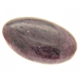 Cabochon Rubin in Zoisit oval 18 x 26 mm