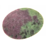 Cabochon Rubin in Zoisit oval 23 x 31 mm