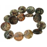Agata Cracked Colorat Disc- 22-27 x 4-8 mm