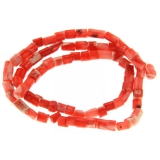 Coral Rosu Tub neregulat 8 x 4 mm