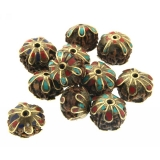 Margele Nepal rudraksha disc 18 x 22 mm