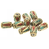 Margele Nepal tub 6 x 12 mm