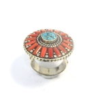 Inele Nepal rotund 32 x 32 mm
