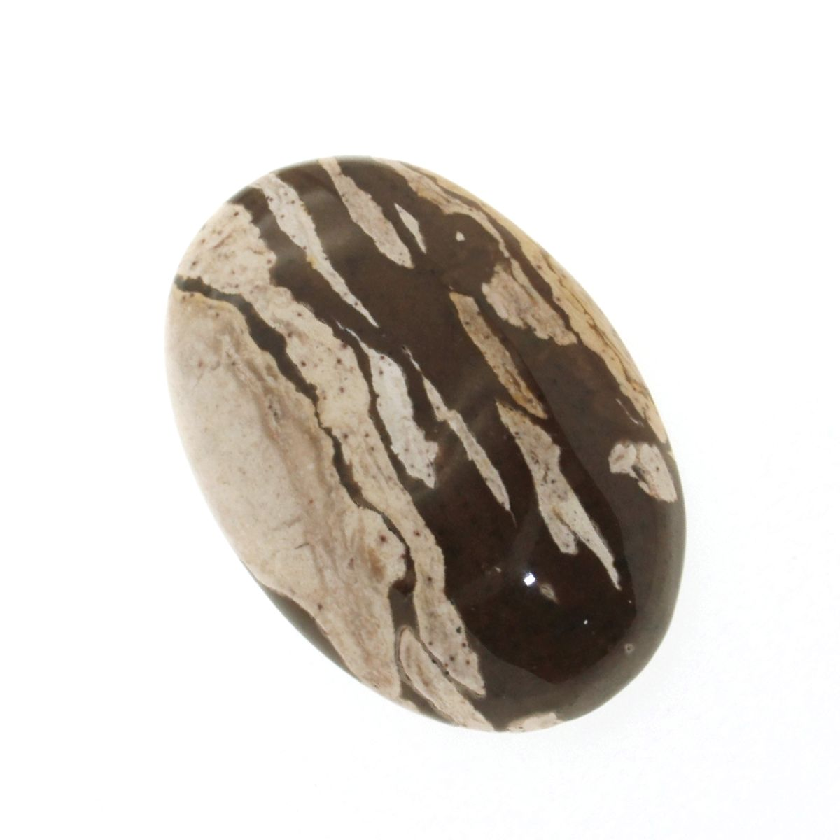 Cabochon Jasp (Brown Zebra) maro oval 41 x 0.8 mm