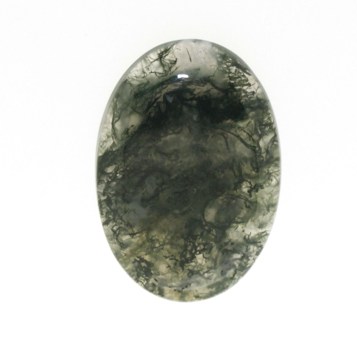 Cabochon Moss Agat verde oval 41 x 0.6 mm